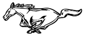 Mustang Logo Decal Sticker