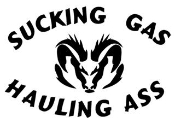 Sucking Gas Dodge Decal Sticker
