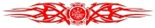 Fire Dept Shield Tribal 3 Decal Sticker