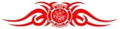 Fire Dept Shield Tribal 4 Decal Sticker