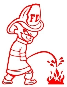 Fireman Pee On Fire Decal Sticker