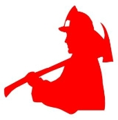 Fireman Silhouette 1 Decal Sticker