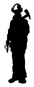 Fireman Silhouette 3 Decal Sticker