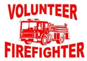 Volunteer Fire with Truck Decal Sticker
