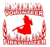 Volunteer Firefighter 2 Decal Sticker