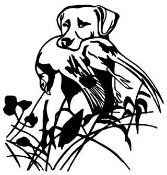 Hunting Dog with Bird Decal Sticker