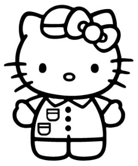Hello Kitty 2 Decal Sticker