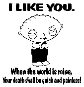 Stewie I Like You Decal Sticker