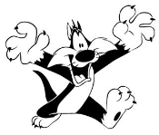 Sylvester the Cat 2 Decal Sticker