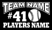 Personalized Baseball 3 Decal Sticker