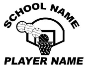Personalized Basketball v1 Decal Sticker
