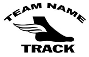 Personalized Track 1 Decal Sticker