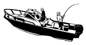 Fishing Boat Decal Sticker