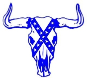 Rebel Bull Skull Decal Sticker