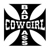 Bad Ass Cowgirl Decal Sticker
