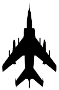 Fighter Jet Silhouette 4 Decal Sticker