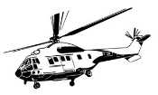 Helicopter 6 Decal Sticker