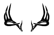 Deer Rack Decal Sticker