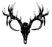 Deer Skull 3 Decal Sticker