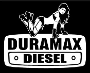 Duramax with Girl 1 Decal Sticker