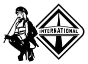 International Diesel with Girl v3 Decal Sticker