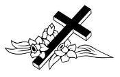 Cross and Flowers Decal Sticker