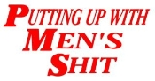 Putting Up With Mens Shit Decal Sticker