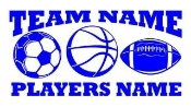 Personalized Soccer-Basketball-Football 2 Decal Sticker