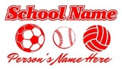 Personalized Soccer-Softball-Volleyball Decal Sticker