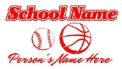 Personalized Baseball -Basketball Decal Sticker