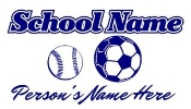 Personalized Baseball-Soccer Decal Sticker
