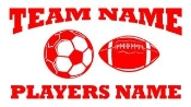 Personalized Soccer-Football 2 Decal Sticker