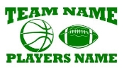 Personalized Basketball-Football 2 Decal Sticker