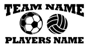 Personalized Soccer-Volleyball 2 Decal Sticker
