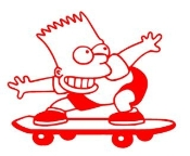 Bart Simpson v4 Decal Sticker