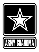 Army Grandma Decal Sticker