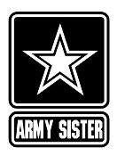 Army Sister Decal Sticker