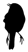 Bird Silhouette v2 Decal Sticker
