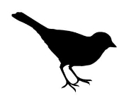 Bird Silhouette v7 Decal Sticker