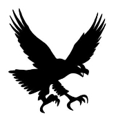 Eagle Silhouette 4 Decal Sticker
