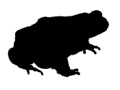Frog Silhouette 1 Decal Sticker