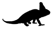 Lizard Silhouette 2 Decal Sticker