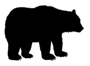 Bear Silhouette 2  Decal Sticker