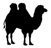 Camel Silhouette v3  Decal Sticker