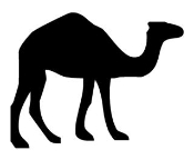 Camel Silhouette v4  Decal Sticker