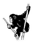 Chimpanzee v1 Decal Sticker