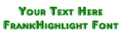 Frankhighlight Font Decal Sticker