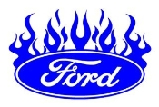 Ford Oval with Flames v3 Decal Sticker