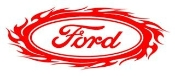 Ford Oval with Flames v2 Decal Sticker