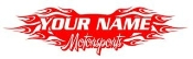 Personalized Motorsports 1 Decal Sticker